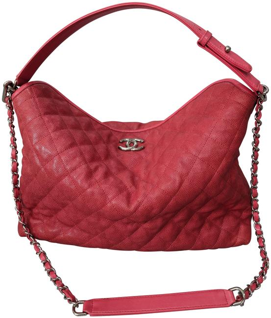 Item - Riviera Quilted French Red Caviar Leather Hobo Bag