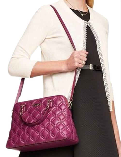 Item - New York Small Rachelle Astor Court Quilted Burgundy Leather Satchel