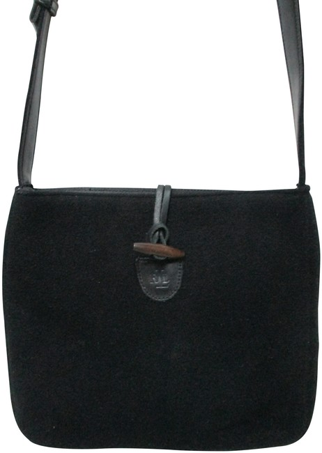 Item - Blend W/ Toggle Purse Black Wool/Acrylic/Leather Cross Body Bag