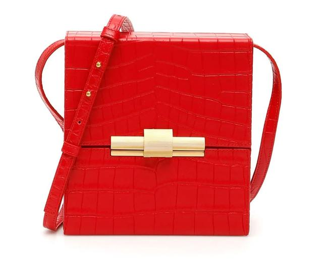 Bottega Veneta Box Cr New Daisey Red Leather Shoulder Bag Bottega Veneta Box Cr New Daisey Red Leather Shoulder Bag Image 1