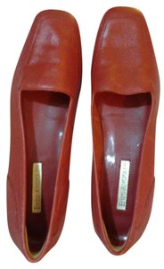 Enzo Angiolini Leather Red Flats