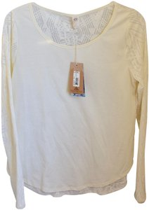 prAna Longsleeve With Tags Casual Top White - Cream