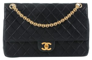 Chanel Vintage Lambskin Flap Balck Shoulder Bag