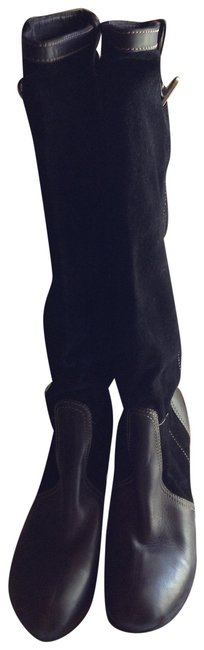 Item - Black Ny Leather and Suede Boots/Booties Size EU 39.5 (Approx. US 9.5) Regular (M, B)