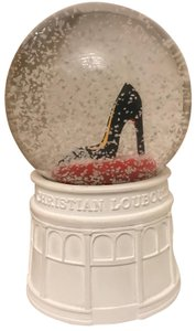 Christian Louboutin Christian Louboutin Holiday Red Soled Heel Winter Snow Globe