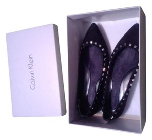 Calvin Klein Studded Suede Leather Flat black Flats