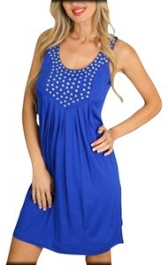 Pinkrose short dress Royal Blue Studs on Tradesy