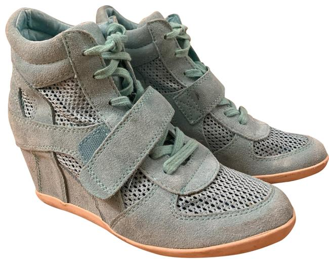 Item - Turquoise (Rare) Bowie Suede Perforated Wedge Sneakers Size EU 39 (Approx. US 9) Regular (M, B)