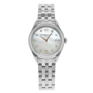 Baume et Mercier Clifton MOP Diamond Dial Quartz Ladies Watch MOA10176