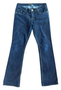 South Pole Collection Denim Cute Flare Casual Chic Fashion Musthave New Funky Gold Darkwash Boot Cut Jeans
