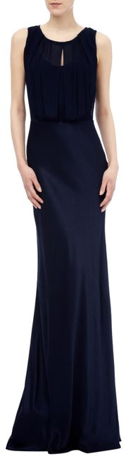Item - Navy Blue Claudia Cowl Back Gown Long Formal Dress Size 0 (XS)