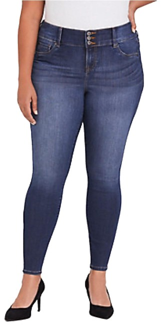 Torrid Blue Medium Wash Ankle Skinny Jeans Size 14 (L, 34) Torrid Blue Medium Wash Ankle Skinny Jeans Size 14 (L, 34) Image 1