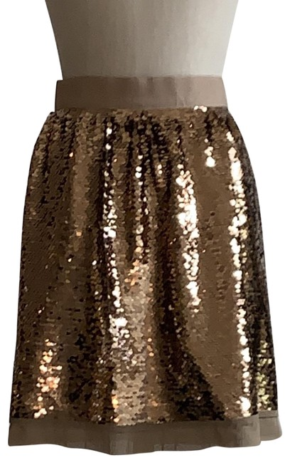 Item - Gold New Sequin Skirt Size 6 (S, 28)
