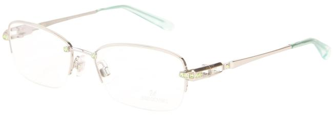 Item - Silver/Turquoise Crystal Accent Eyelgass Frames Sunglasses
