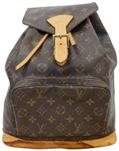 Louis Vuitton Monogram Leather Shoulder Vintage Backpack