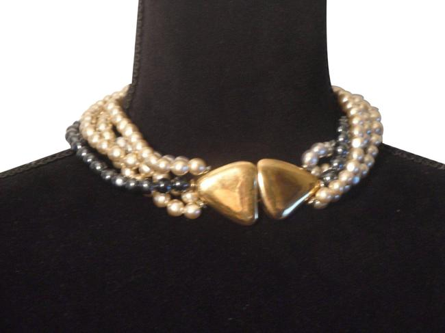 Item - Multicolor Signed Inc.5 Strand Faux Pearl Choker Necklace