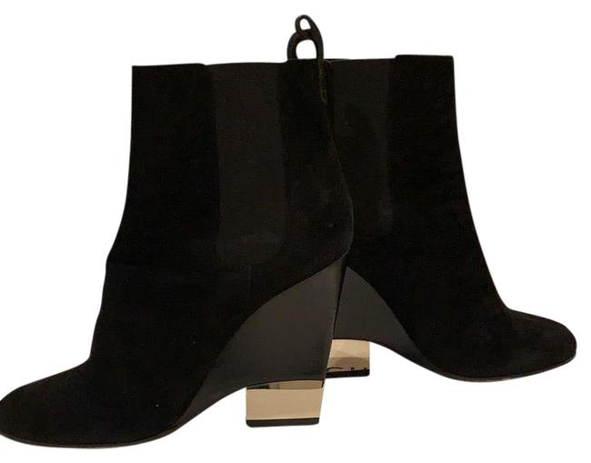 Item - Black Suede Stretch with Mirrored Heel Boots/Booties Size EU 39 (Approx. US 9) Regular (M, B)