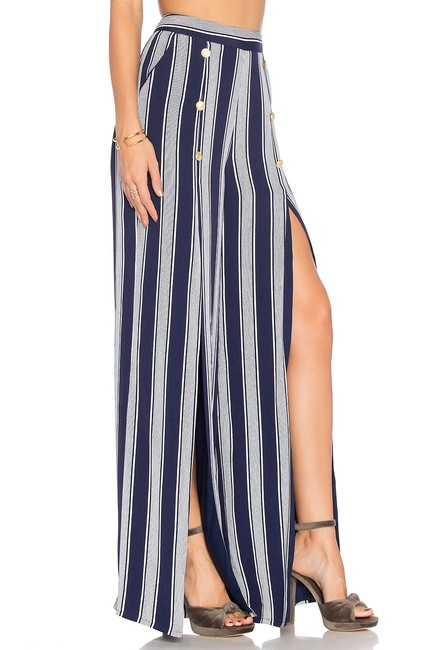 Lovers + Friends Wide Leg Pants navy/ white Image 1