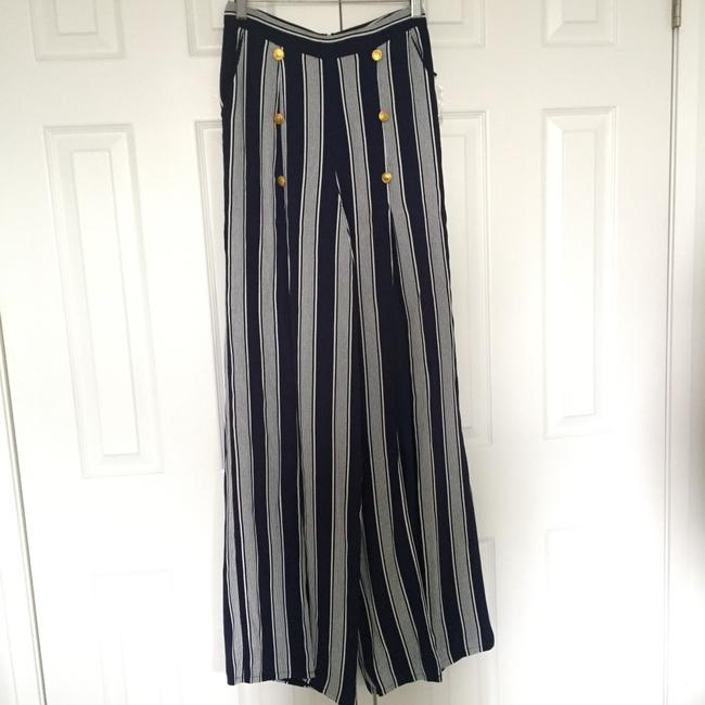Lovers + Friends Wide Leg Pants navy/ white Image 5