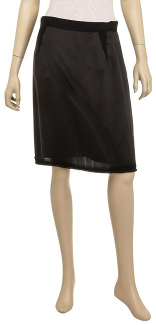Preload https://img-static.tradesy.com/item/26362327/lanvin-black-silk-pencil-with-chain-detail-sz40-492917-skirt-size-8-m-29-30-0-2-650-650.jpg