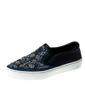 Dior Canvas Leather Embroidered Blue Athletic