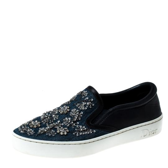 Preload https://img-static.tradesy.com/item/26362421/dior-blue-canvas-and-leather-embroidered-slip-sneakers-size-eu-38-approx-us-8-regular-m-b-0-0-540-540.jpg