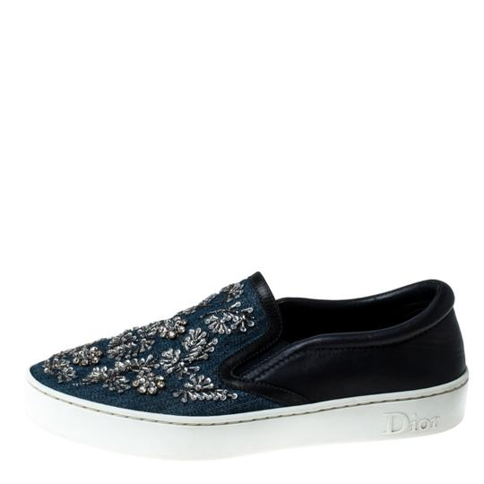 Dior Canvas Leather Embroidered Blue Athletic Image 1