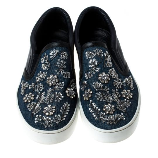 Dior Canvas Leather Embroidered Blue Athletic Image 2