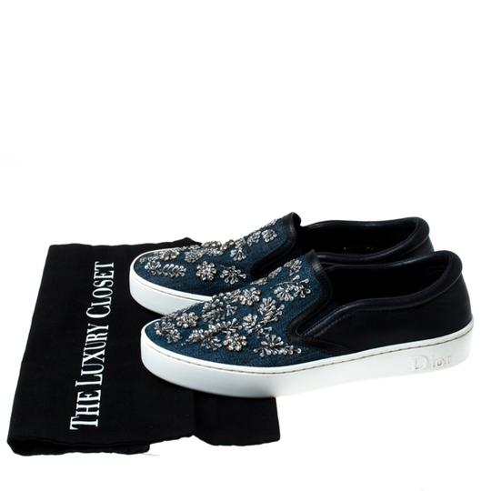 Dior Canvas Leather Embroidered Blue Athletic Image 7