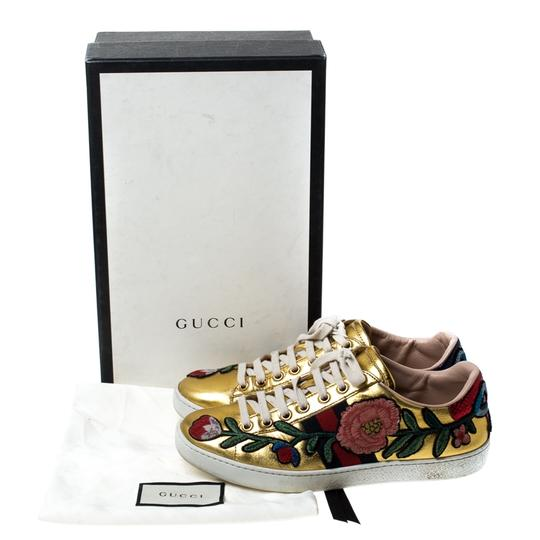 Gucci Metallic Leather Gold Athletic Image 7