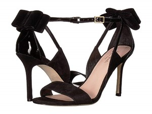 Kate Spade Suede Patent Leather Black Sandals
