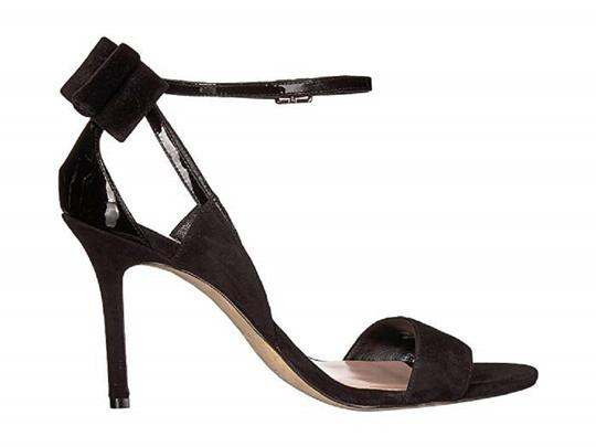 Kate Spade Suede Patent Leather Black Sandals Image 3