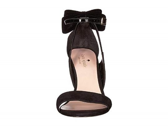 Kate Spade Suede Patent Leather Black Sandals Image 4