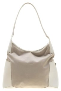 Salvatore Ferragamo Leather Canvas Shoulder Bag