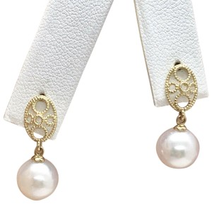 Eric Kassin Fine Lady's Akoya Pearl 14 Kt 8.44 Mm Earrings Certified 499 822083