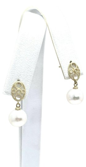 Eric Kassin Fine Lady's Akoya Pearl 14 Kt 8.44 Mm Earrings Certified 499 822083 Image 2