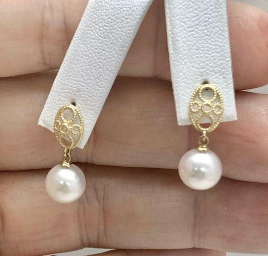 Eric Kassin Fine Lady's Akoya Pearl 14 Kt 8.44 Mm Earrings Certified 499 822083 Image 5