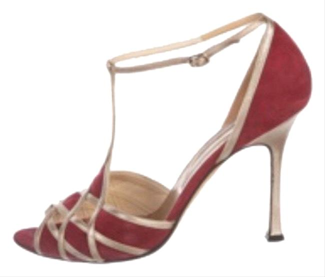 Item - Red and Gold Formal Shoes Size US 10 Regular (M, B)