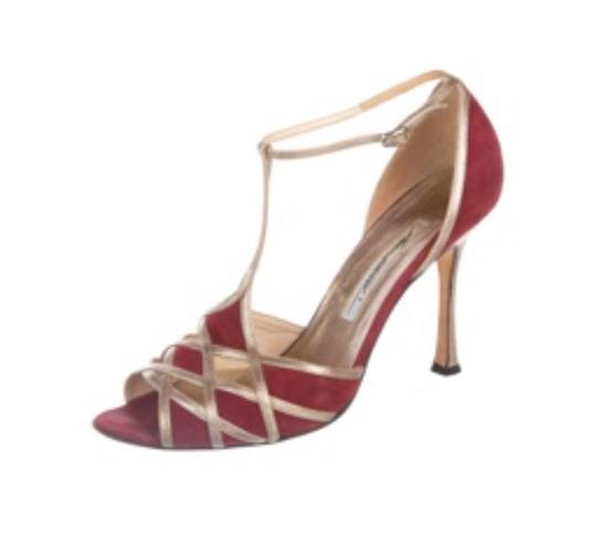 Brian Atwood red and gold Formal Image 1