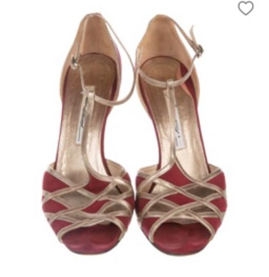 Brian Atwood red and gold Formal Image 2