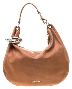 Jimmy Choo Leather Bangle Hobo Bag