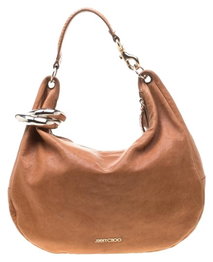 Preload https://img-static.tradesy.com/item/26362510/jimmy-choo-large-sky-bangle-brown-leather-hobo-bag-0-2-540-540.jpg