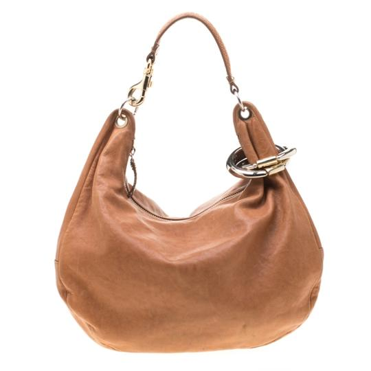 Jimmy Choo Leather Bangle Hobo Bag Image 1