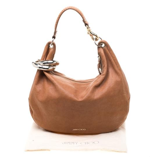 Jimmy Choo Leather Bangle Hobo Bag Image 11