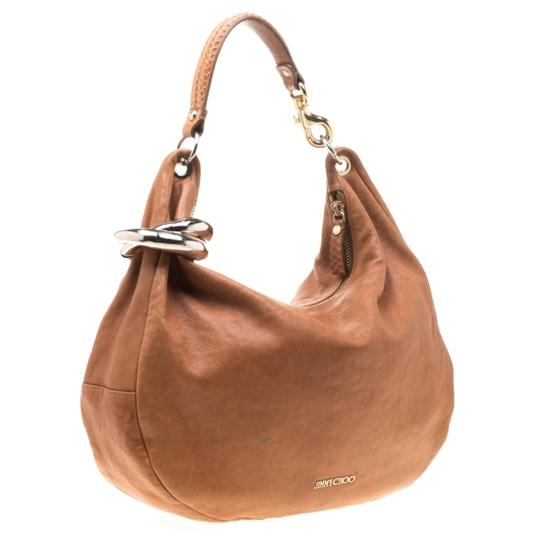 Jimmy Choo Leather Bangle Hobo Bag Image 3
