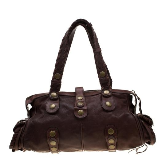 Chloé Leather Satchel in Brown Image 1