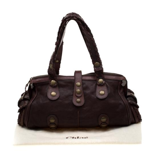 Chloé Leather Satchel in Brown Image 11