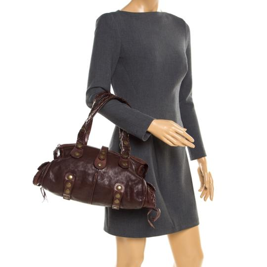 Chloé Leather Satchel in Brown Image 2