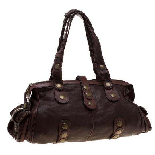 Chloé Leather Satchel in Brown Image 3