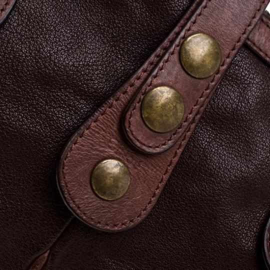 Chloé Leather Satchel in Brown Image 9